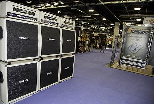 Stack of Smarvo Amps at NAMM 2016