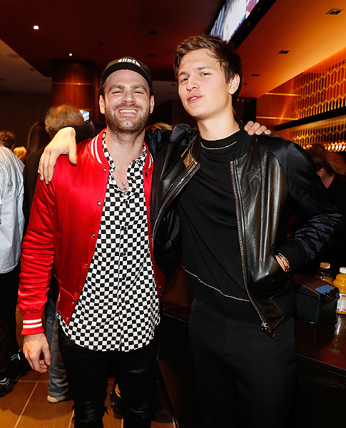 Alex Pall of The Chainsmokers and Ansel Elgort hanging out at the Virginia Black VIP Lounge at the 2017 Billboard Music Awards 1
