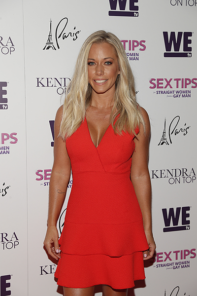 Kendra Wilkinson at the premiere of Sex Tips for Straight Women from a Gay Man and WE tvs Kendra on Top on June 8 2017 in Las Vegas Nevada Photo by Isaac Brekken Getty Images for WE tv