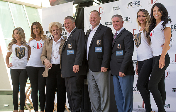 Mayor Carolyn Goodman Derek Stevens Gerard Galland and Kerry Bubolz