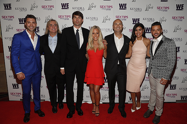 Shawn Nightingale Matt Murphy Adam Steck and Bri Steck with cast at the premiere of Sex Tips for Straight Women from a Gay Man and WE tvs Kendra on Top on June 8 2017 in Las Vegas Nevada Photo by Isaac Brekken Getty Images for WE tv
