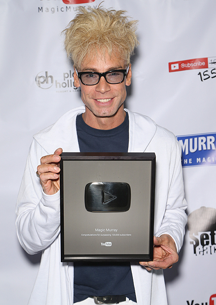 Murray with his Youtube Award - Photo credit: Gabe Ginsberg
