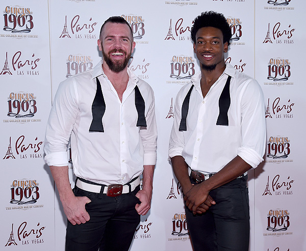 CHIPPENDALES Stars Ryan Kelsey and Dimitri Blizzeard Attend Opening Night of CIRCUS 1903 at Paris Las Vegas 7.25.17 Ethan Miller
