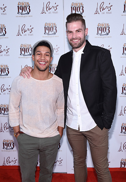 MAGIC MIKE LIVE Stars Luke Broadlick and David Terry Attend Opening Night of CIRCUS 1903 at Paris Las Vegas 7.25.17 Ethan Miller