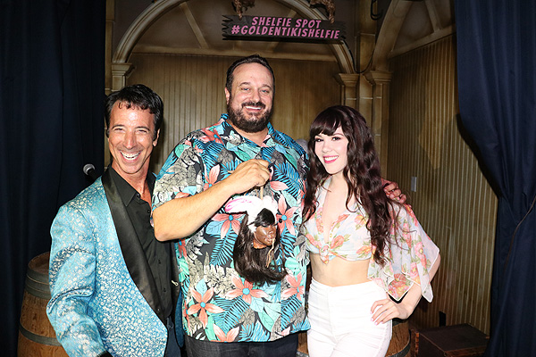 Tony Felicetta Branden Powers and Claire Sinclair with Sinclairs shrunken head