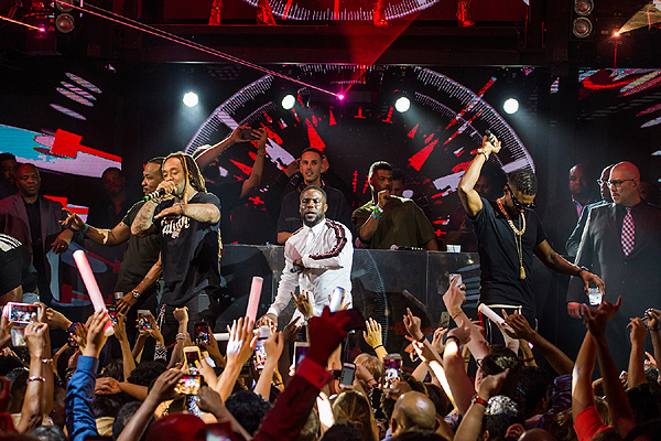 Ty Dolla ign Kevin Hart Usher at the Official HartBeat Weekend After Party Hosted by Kevin Hart at Marquee Nightclub1