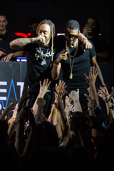 Ty Dolla ign Usher at the Official HartBeat Weekend After Party Hosted by Kevin Hart at Marquee Nightclub