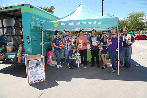 Mat Franco Presents The Animal Foundation with Magic Reinvented Nightly's Second Anniversary Supply Drive Donations - Photo credit: Gabe Ginsberg