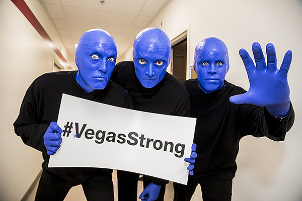 Blue Man Group shows support at Vegas Cares Benefit Nov. 5 2017