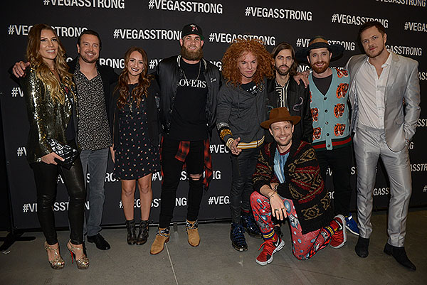 Celebrities at Vegas Strong Benefit - Photo credit: Powers Imagery