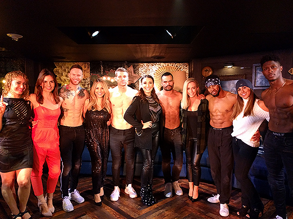 Kendra Wilkinson and friends savor in private meet and greet with the cast of MAGIC MIKE LIVE Nov. 29 2017