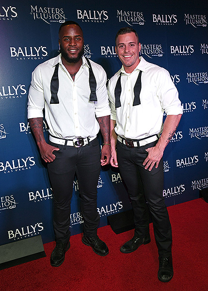 Cast members from CHIPPENDALES on the red carpet at opening night of Masters of Illusion at Ballys Las Vegas 12.13.17 credit Ethan Miller