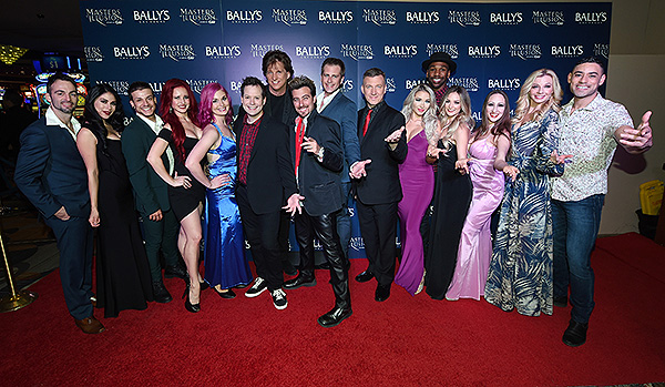 Cast of Masters of Illusion on the red carpet at opening night of Masters of Illusion at Ballys Las Vegas 12.13.17 credit Ethan Miller