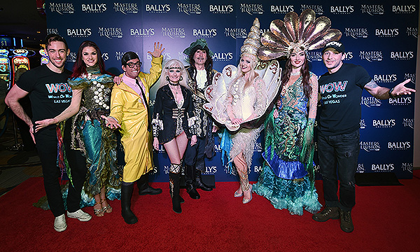 Cast of WOW World of Wonder on the red carpet at opening night of Masters of Illusion at Ballys Las Vegas 12.13.17 credit Ethan Miller