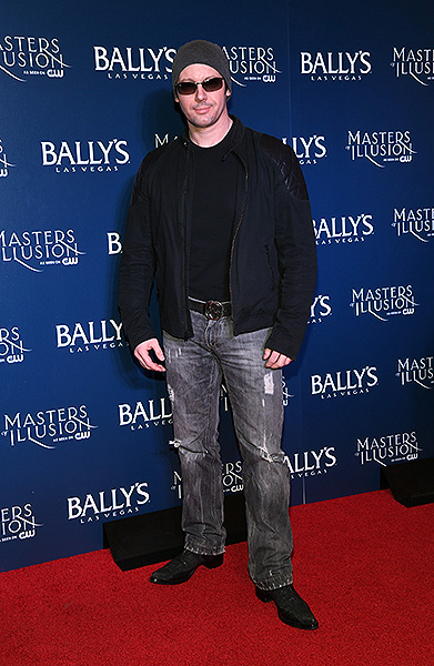 Magician David Goldrake on the red carpet at opening night of Masters of Illusion at Ballys Las Vegas 12.13.17 credit Ethan Miller