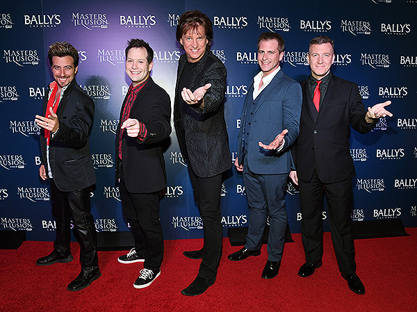 Tommy Wind Farrell Dillon Greg Gleason Jason Bird Chris Randall on the red carpet at opening night of Masters of Illusion at Ballys Las Vegas 12.13.17 credit Ethan Miller