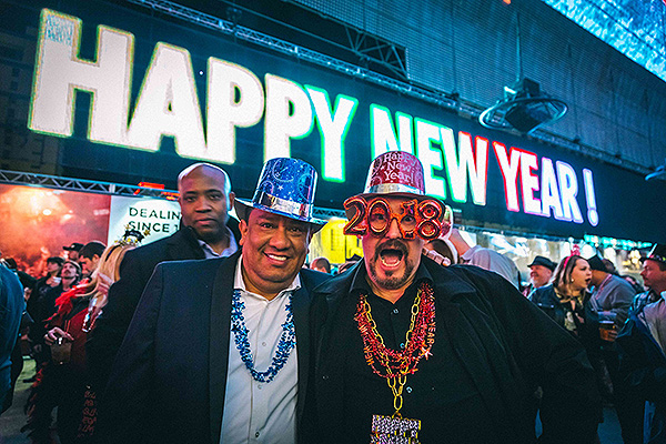 Guests ring in 2018 at Americas Party Downtown at Fremont Street Experience 12.31.17