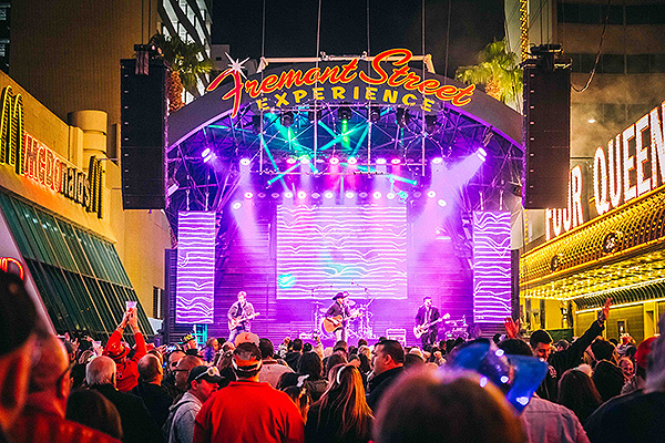 Tony Marques Band performs on the 3rd Street Stage during Fremont Street Experiences NYE party downtown 12.31.17