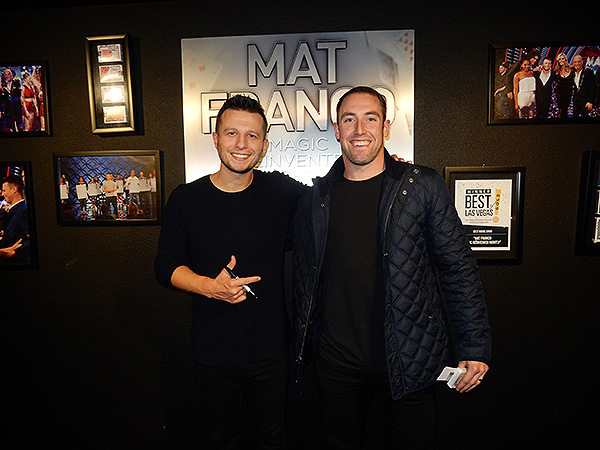 Vegas Golden Knight Brad Hunt Attends MAT FRANCO MAGIC REINVENTED NIGHTLY at The LINQ Hotel and Casino 12.22.17 Credit AliciaMorse