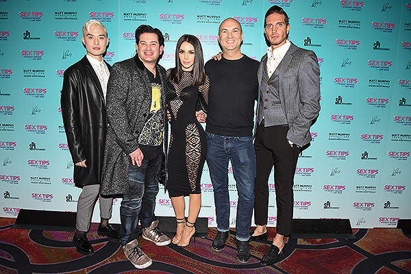 Chester Lockhart, Alex Schechter, Scheana Shay, Adam Steck, and Chris Hodgsen at Sex Tips for Straight Women from a Gay Man - Photo credit: Stacey Torma