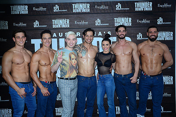 Scheana Shay and Chester Lockhart at Thunder from Down Under 1