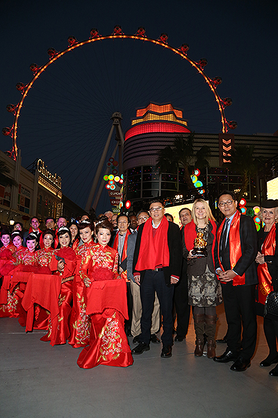 Chinese New Year 2018 The LINQ Promenade Ribbon Cutting