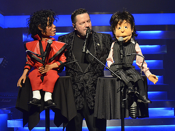 Terry Fator with his new puppets of Michael Jackson and Paul McCartney - Photo credit: Stephen Thorburn