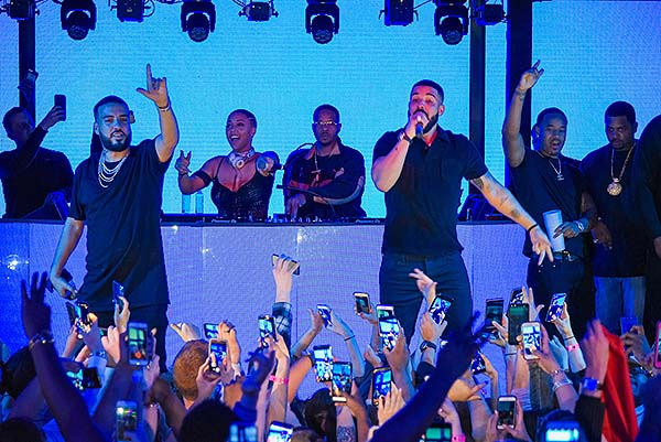 Drake Performs at Marquee with French Montana 2.24.18