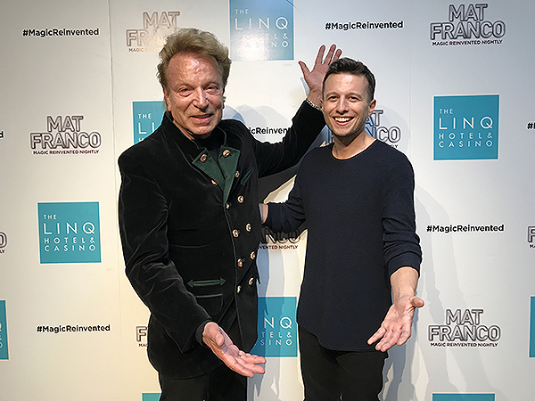 Siegfried Fischbacher Attends Mat Franco Magic Reinvented Nightly at The LINQ Hotel Casino 3.19.18 Credit MagicReinventedNightly