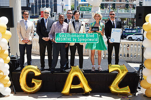 Clark County Renames The Strip Gazillionaire Blvd. In Celebration of ABSINTHE's 7th Anniversary in Las Vegas 5.7.18 - Photo credit: Al Powers