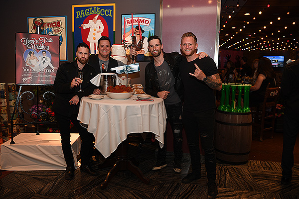 Tenors of Rock at Tony n Tinas Wedding Opening Night Celebration at Buca di Beppo inside Ballys Las Vegas Friday June 15