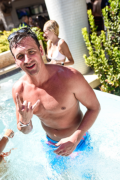 Ryan Lochte at Marquee Dayclub 8.18.18