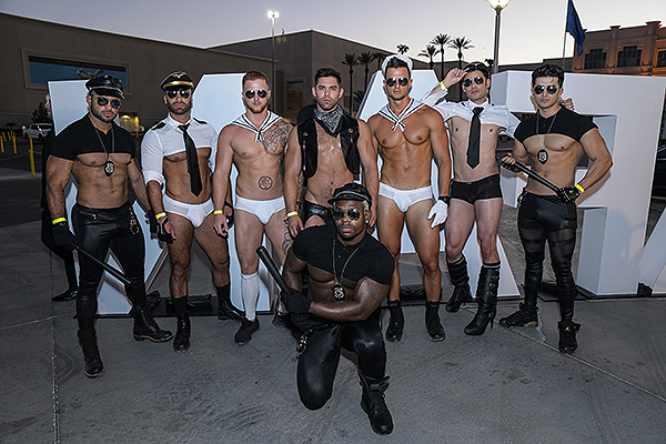 Performers from Piranha Nightclub pose for a photo. Credit Amit Dadlaney