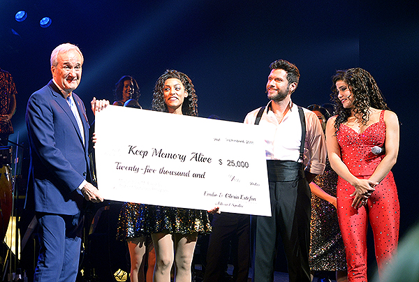 Mr. Larry Ruvo graciously accepts a 25000 donation to Keep Memory Alive on behalf of Gloria and Emilio Estefan 9.6.18