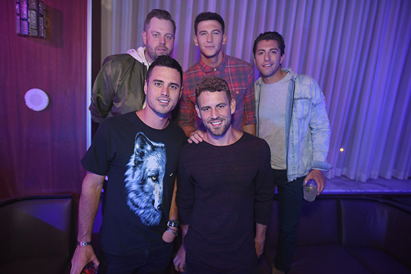 Ben Higgins Blake Horstmann Jason Tartick and Nick Viall Party at Hyde Bellagio 9.21.18