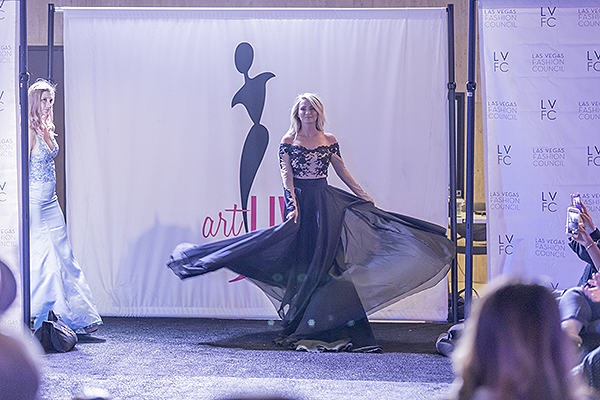 Beautiful gown makes debut during fashion show. Photo Credit Joel Cada