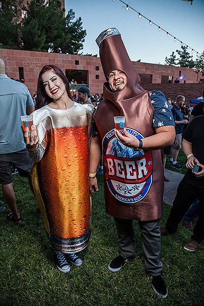 DBF Guests in Beer Costumes