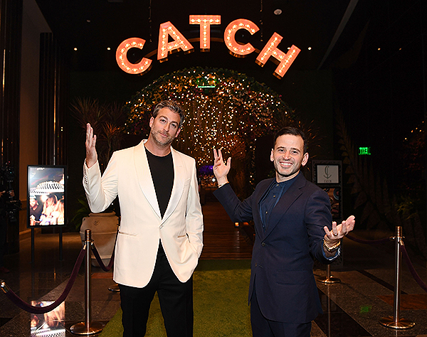 Mark Birnbaum and Eugene Remm at CATCH Las Vegas Grand Opening 3 Getty Images Denise Truscello