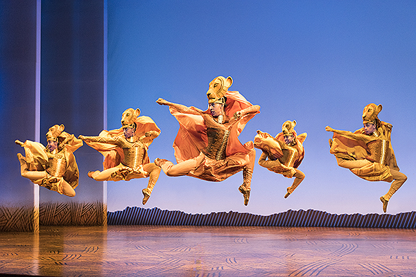 Lionesses Dance in THE LION KING North American Tour. Disney