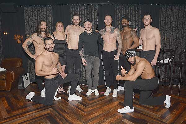 Gus Kenworthy Attends MAGIC MIKE LIVE at Hard Rock Hotel Casino 1.19.19