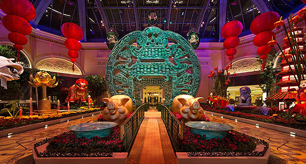 bellagio conservatory lunar new year east bed low
