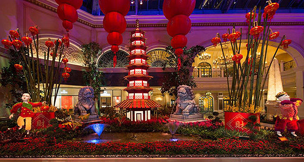 bellagio conservatory lunar new year south bed low