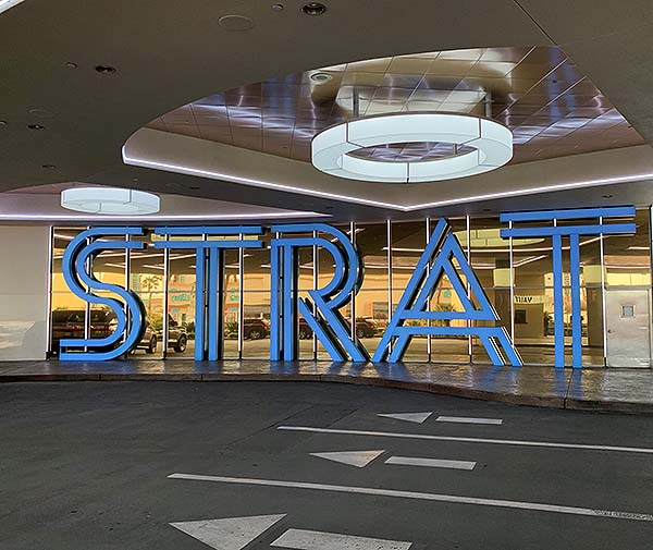 The STRAT Hotel Casino Skypod Remodeled Porte Cochere Entrance