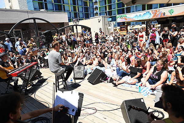 Nick Carter performs private acoustic set at Influence The POOL at The LINQ Saturday April 27 2
