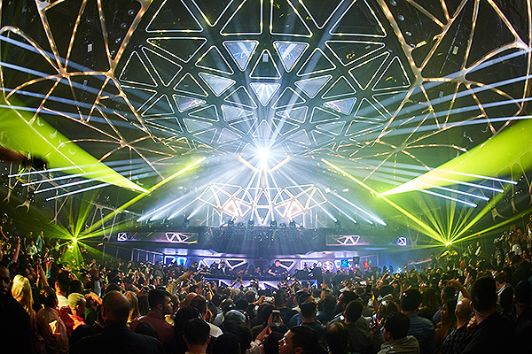 The Hakkasan Grid the Largest Kinetic Light Installation in the United States is Unveiled at Hakkasan Nightclub in Las Vegas on May 16 Photo Credit Power Imagery LLC
