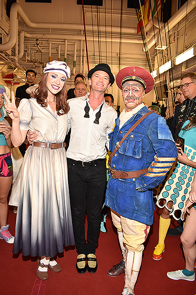 Neil Patrick Harris Poses with Characters from The Beatles LOVE by Cirque du Soleil Sept. 27 2019