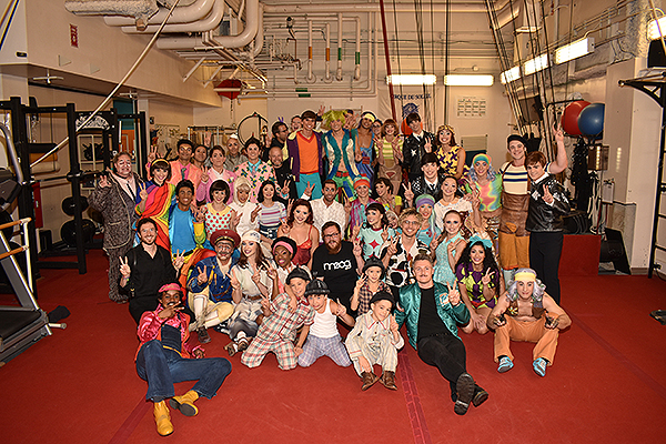 WALK THE MOON and the cast of The Beatles LOVE by Cirque du Soleil Post for Photos Sept. 19 2019