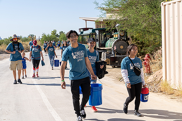 Walk for Water 2019 participants during the three mile walk through the Springs Preserve Sept. 21