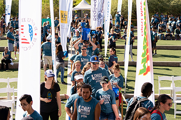 Walk for Water 2019 participants return from their walk through the Springs Preserve Sept. 21
