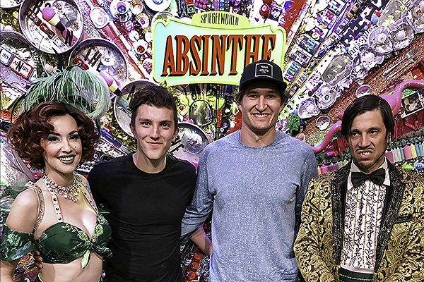 Mark Stone and Peyton Krebs Attend ABSINTHE 10.28.19 Paul MattinglySpiegelworld